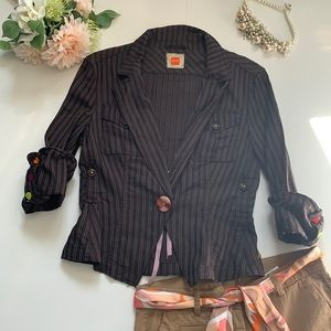 Hugo Boss brown striped one of the kind jacket M